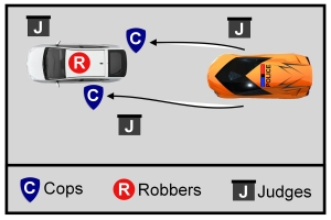 cops and robbers color